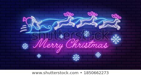 Christmas Casino Greeting Background Vector Illustration Stok fotoğraf © MarySan