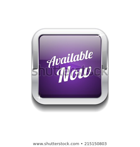 available now purple circular vector button stock photo © rizwanali3d