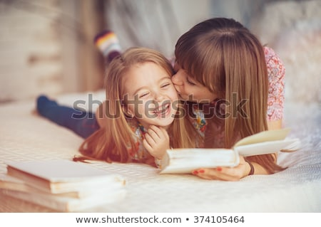 Young Attractive Parents and Child Portrait on White Stock photo © feverpitch