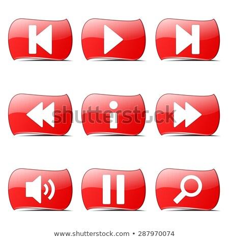 multimedia controller red vector buttonicon design set stock photo © rizwanali3d