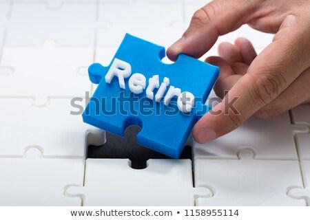 Quit - Text on Blue Puzzles. Stock photo © tashatuvango