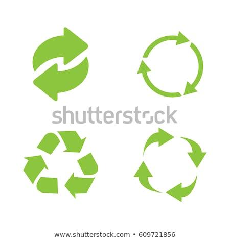 Recycle Arrow Green Vector Icon Design stock photo © rizwanali3d