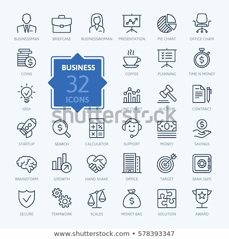pie chart thin line icon stock photo © rastudio