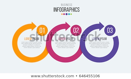 прогресс иконки три шаги вектора бумаги Сток-фото © netkov1