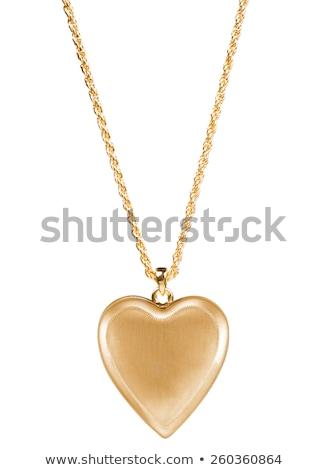 altın · kalp · yalıtılmış · beyaz · kadın · güzellik - stok fotoğraf © ozaiachin