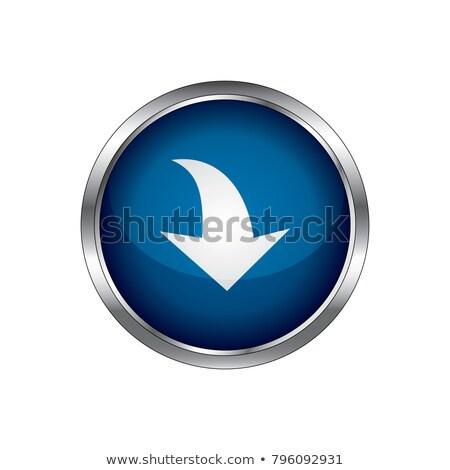 ダウン キー ベクトル 青 ウェブのアイコン ストックフォト © rizwanali3d