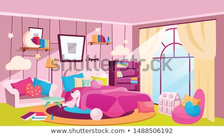 espaçoso · quarto · dia · dobrar · cama - foto stock © jrstock