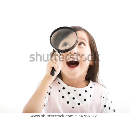 Stock photo: Learn Chinese through Magnifying Glass.