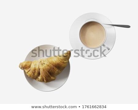 Vibrant overhead image of coffee and cake Stock photo © ozgur