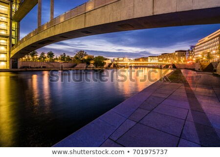 folyó · Berlin · hajnal · iroda · naplemente · utazás - stock fotó © meinzahn