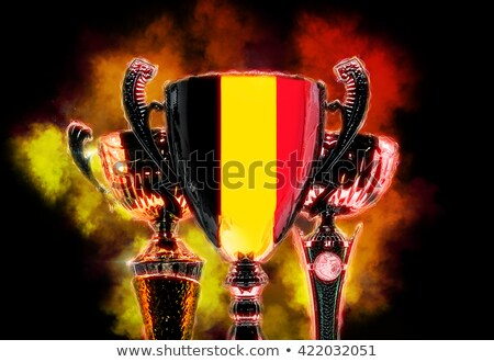 Trophy cup textured with flag of Belgium. Digital illustration Stock photo © Kirill_M