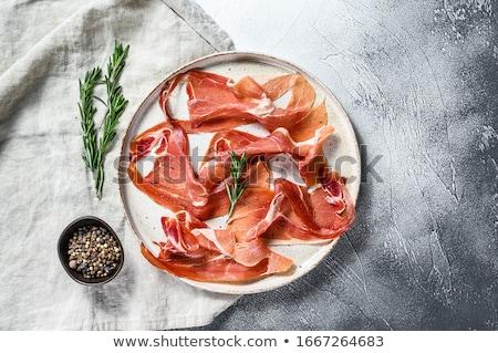 サラミ · ぱりぱり · フランス語 · ソーセージ · パン - ストックフォト © digifoodstock