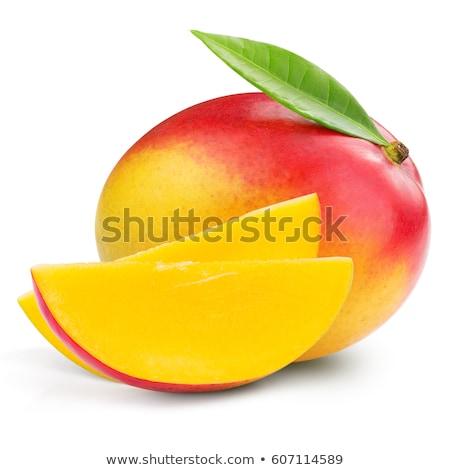 Mangó gyümölcs szelet fehér tükröződő zöld Stock fotó © homydesign