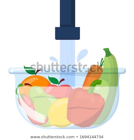yıkama · sarı · tatlısu · sıçrama · su - stok fotoğraf © simply