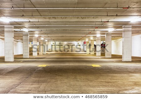View down the length of an empty parking garage Stock photo © ozgur
