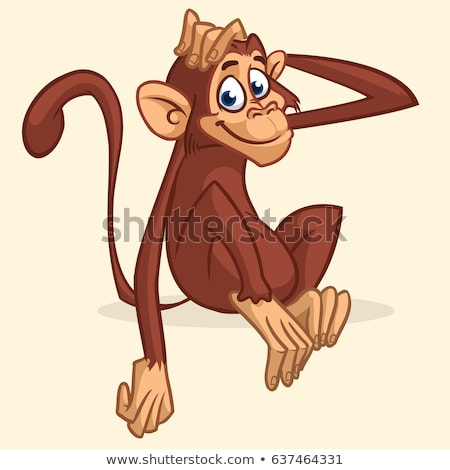 A head of a playful monkey Stock photo © bluering