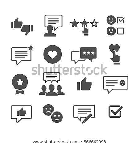 Müşteri geribesleme ikon dizayn yalıtılmış örnek Stok fotoğraf © WaD