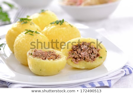 stuffed beef with potato dumplings stock photo © digifoodstock