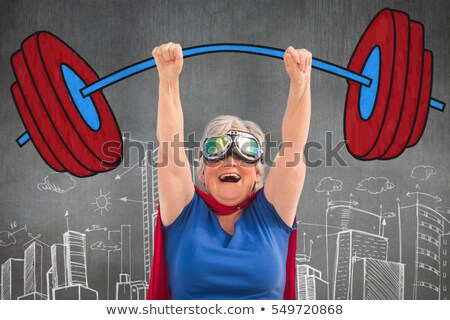 composite image of senior woman pretending to be a superhero stock photo © wavebreak_media
