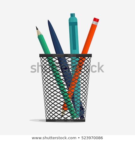 lápis · isolado · branco · negócio · lápis · metal - foto stock © berczy04