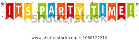 Tempo de festa estilizado ilustração elegante beber óculos Foto stock © HypnoCreative