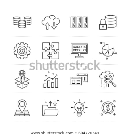 Data storage line icon. Stock photo © RAStudio