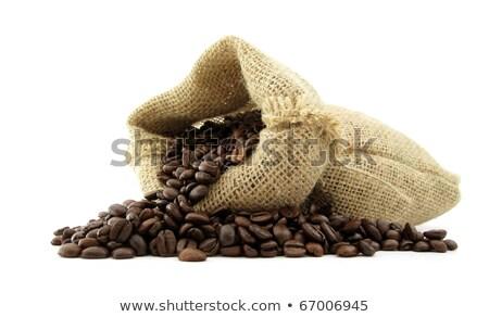 Coffee beans in Hessian sack Stock photo © Digifoodstock