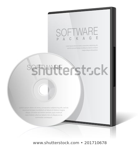 cool realistic case for dvd or cd disk stock photo © tussik