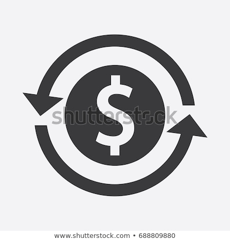 Voltar investimento ícone negócio projeto isolado Foto stock © WaD
