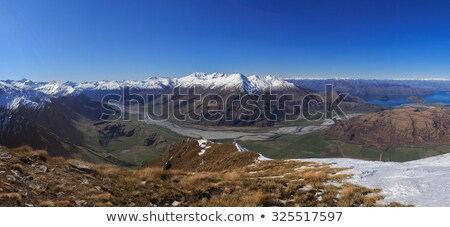 Aerial view Mount Aspiring National Park stock photo © oliverfoerstner