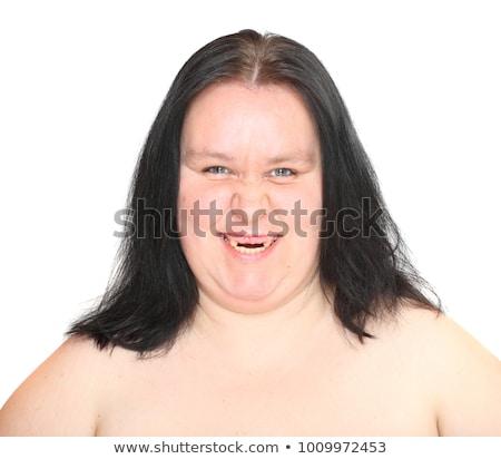 уродливые женщину лице Sexy глазах портрет Сток-фото © zurijeta