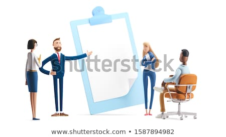 Clipboard with Business Analytics Concept. 3D Stock photo © tashatuvango