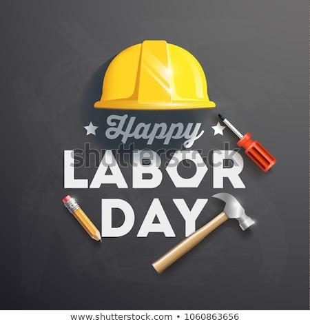 Geburtswehen Tag Arbeitnehmer Helm Arbeit internationalen Stock foto © popaukropa
