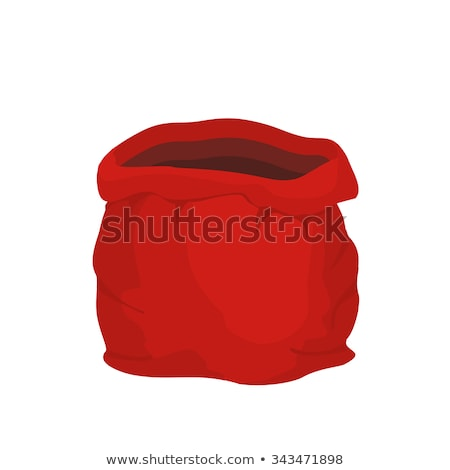 Open empty sack Santa Claus. Red big bag for gifts. Christmas an Stock photo © popaukropa