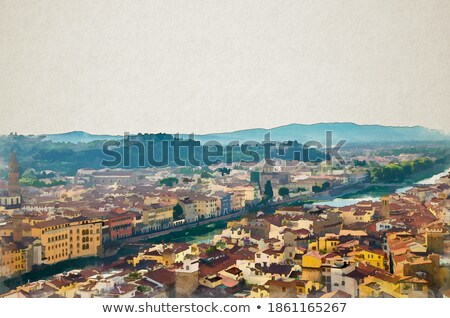View of Florence across the Arno River Stock photo © IS2