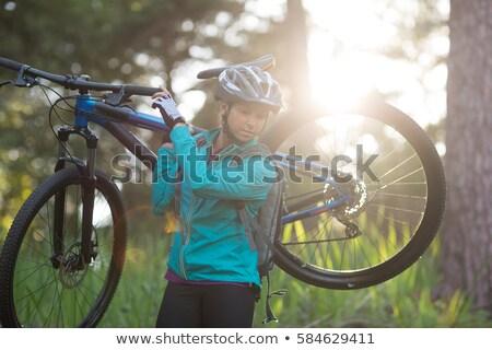 rower · kobieta · sportowe · relaks - zdjęcia stock © wavebreak_media