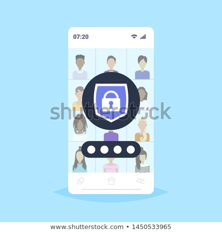 Social media privacy concept padlock Stock photo © unikpix