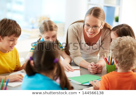 Professor estudante sala de aula escolas mulher menina Foto stock © wavebreak_media