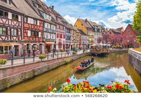 Stockfoto: Strasbourg Houses On River