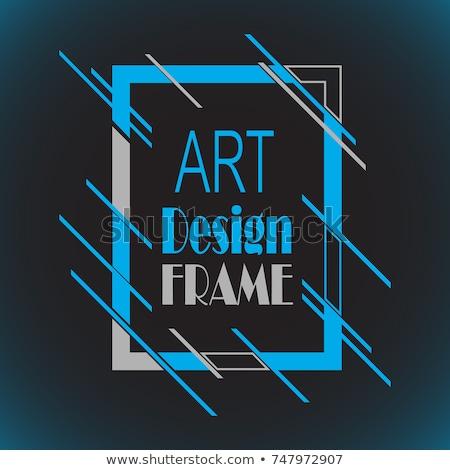 Dekken flyer lay-out meetkundig kleurrijk abstract Stockfoto © DavidArts