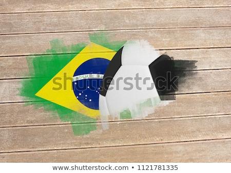 Feketefehér futball fából készült felület deszkák futball Stock fotó © wavebreak_media