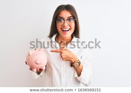 oszczędność · ceny · banku · piggy · palce · monety · wakacje - zdjęcia stock © nobilior