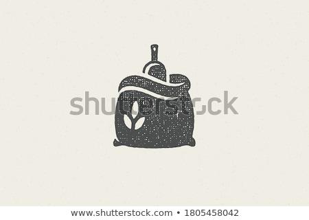 Pszenicy mąka worek ilustracja brązowy worek Zdjęcia stock © lenm