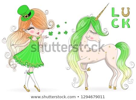 Cartoon Leprechaun Girl Graphic Stock photo © cthoman
