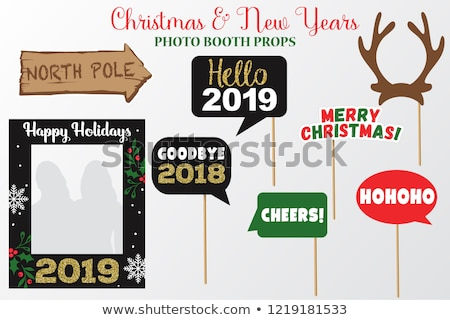 Happy New Year 2019 gold glitter deer decoration Stock photo © cienpies