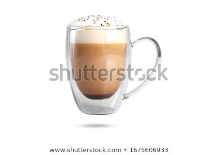 кружка капучино кофе корицей молоко Сток-фото © grafvision