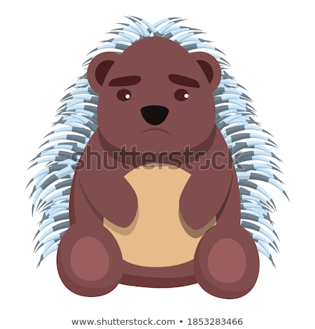 Cartoon Sad Porcupine Stock photo © cthoman