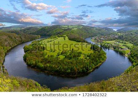 The river Vltava Stock photo © Givaga