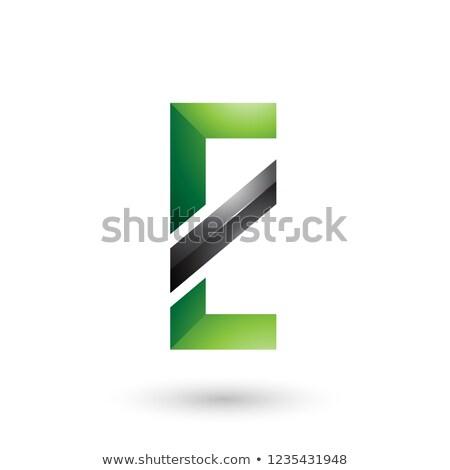 Yeşil siyah diyagonal hat vektör Stok fotoğraf © cidepix
