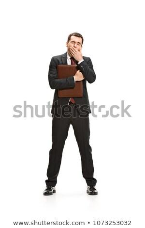 退屈 ビジネスマン フル 作業 コンピュータ 男 ストックフォト © Minervastock